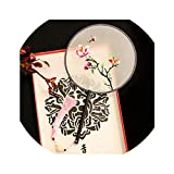 1pc Pure Silk Palace Style Silk Fan Handwork Embroidery Round Fan Chinese Style
