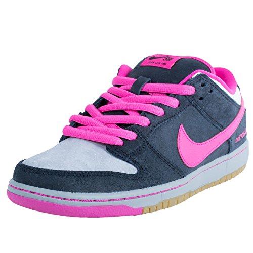 Nike Mens Dunk Low Premium SB QS Disposable Black/Pink Foil-White Leather Skateboarding Size 11