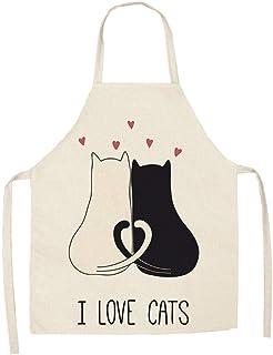 Förkläder med kattmönster.