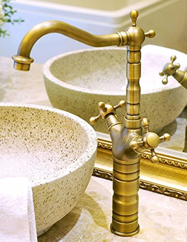 LHbox Continental antiken Wasserhahn Waschtisch Armatur Waschbecken auf der 360-Grad Drehung Voll Kupfer Beschlge Tippen