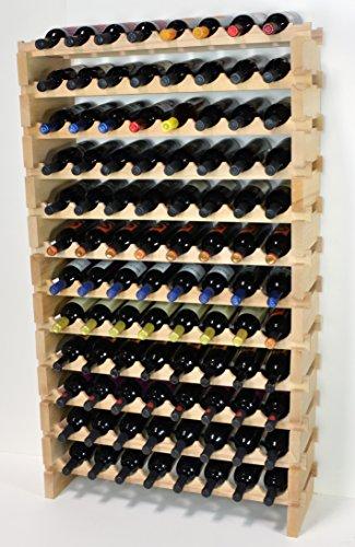 sfDisplay.com,LLC. Modular Wine Rack Beechwood 32-96 Bottle...