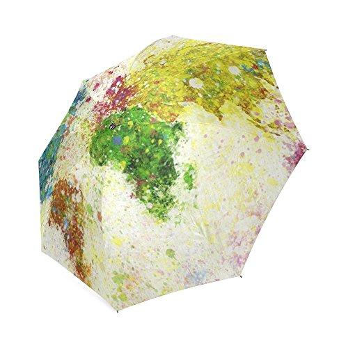 Paraplu JC-Dress Opvouwbare Wereldkaart Schilderij Winddicht Stevig en Draagbaar voor Reizen