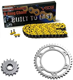 Volar O-Ring Chain and Sprocket Kit - Yellow for 2001-2006 Honda CBR600F4i