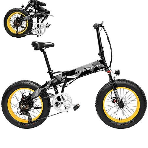 Carsparadisezone Elektrofahrrad Ebike Mountainbike Klapprad 20 Zoll mit 48V 10,4Ah Lithium-Akku, 500 W Motor 35 km/h, Smartphone-Halter Elektrische E-Bike MTB für Herren Damen