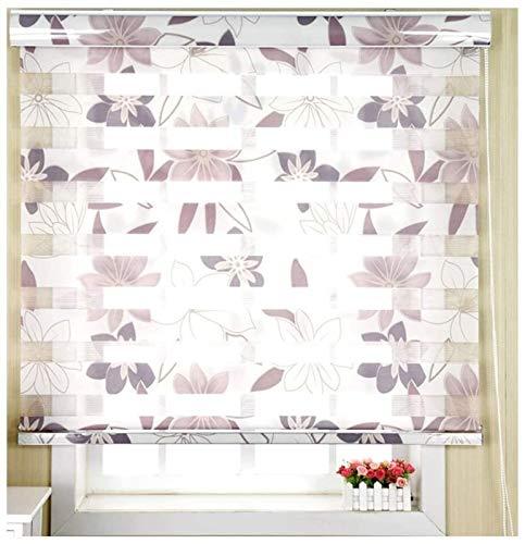 Persianas enrollables plisadas para ventanas de día y noche, de cebra, para ventanas, persianas, persianas, persianas, cortinas para el hogar, oficina, estudio, tamaño personalizable para ventanas
