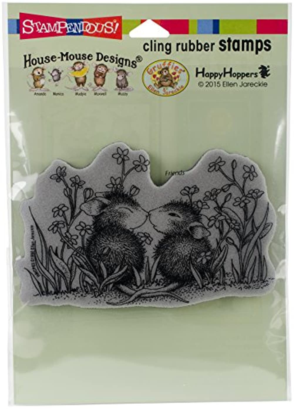 Stampendous House Mouse Cling Garden Kiss
