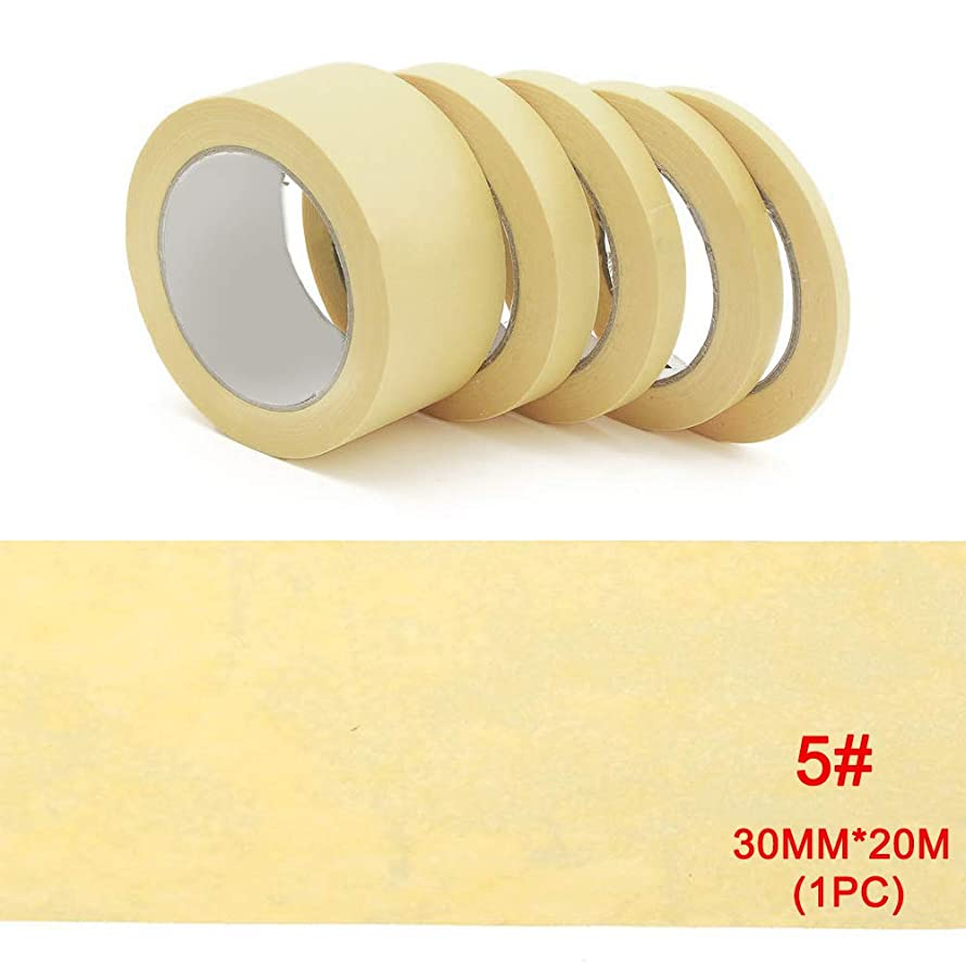 High Temperature Single Sided Adhesive PVC Vinyl Fine Line Masking Tape Car Auto Body Shops Paint Fineline Tape(3020mmYellow)