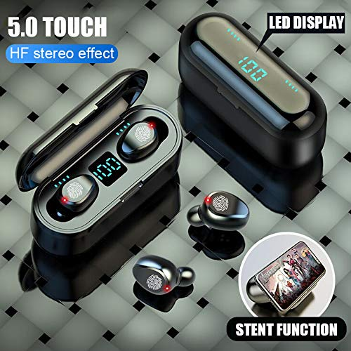 DishyKooker blue-tooth V5.0 koptelefoon draadloze koptelefoon stereo sport draadloze koptelefoon oortelefoon headset 2000 mAh power voor i-Phone Xiao-mi