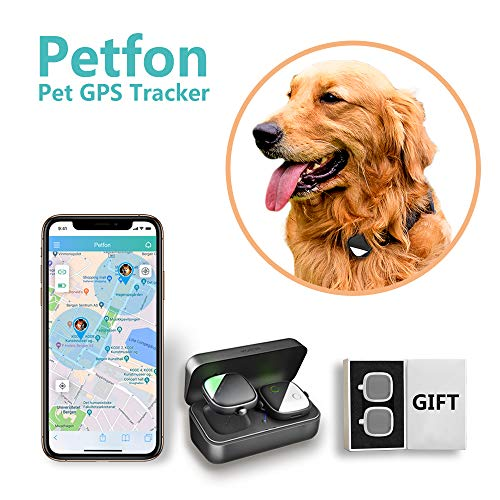 Dog GPS Tracker, No Monthly Fee, Real-Time Tracking Collar Device, APP Control for Pets and Pets Activity Monitor with Gift