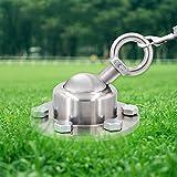 Surmounty Hund Anlegepflöcke 360°Grad Hundeanker, Edestahl Hundepfahl Nicht inkl. Hundeleine, Hund Bodenanker Erdanker für Outdoor Garten