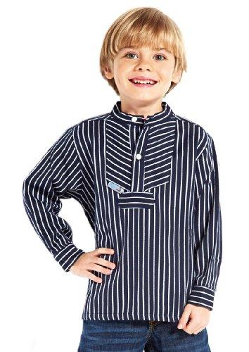 modAS Fischerhemd Basic breit gestreift Kinder, Kinder, 80