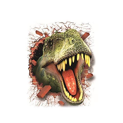 Ruiting Pegatinas de Pared Dinosaurio 3D,Tatuajes de Pared Etiqueta de la Pared Creativo Decorativas para Dormitorio Habitación de los niños de Papel de Pared Desmontable