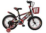 Kinderfahrrad Stahlrahmen mit Stützrädern und Korb 16Zoll Spielrad BMX für