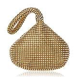 Bolso De Noche Mujeres Bolsos De Noche De Mujer Diamantes De Imitación Cubo Damas Bolso De Embrague Bolsos De Mujer-Ym1217Gold