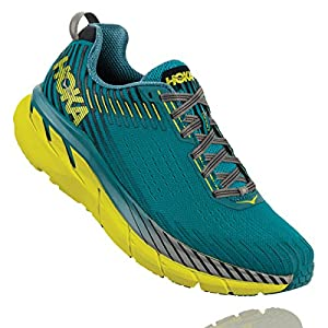 HOKA ONE ONE Men's Clifton 5 Running Shoes, Carribean Sea/Storm Blue, Size 9.5 D US