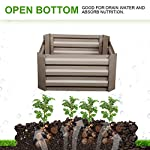 """Klismos 2'x2'garden bed metal outdoor galvanized steel planter box patio raised garden bed kit for vegetables/flower… 10 【overall dimensions】---- 94. 48""""(l)x47. 24""""(w)x11. 81""""(h) 【open-bottom garden bed】 【easy to assemble for the outdoor planter boxes】"""