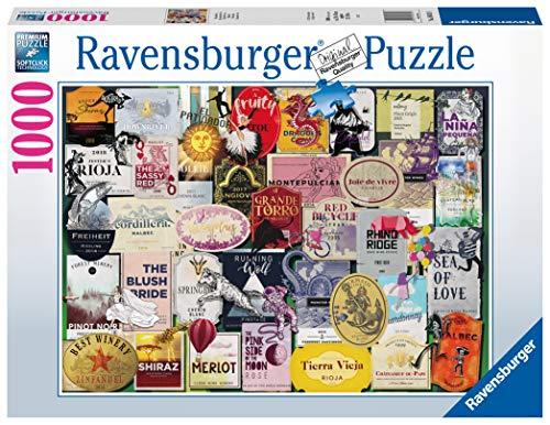 Ravensburger 16811 8 Weinetiketten, Mehrfarbig