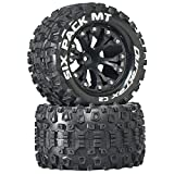 Duratrax Six-Pack MT 2.8' 2WD Mounted 1/2' Offset Tires, Black (2), DTXC3522