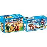 Playmobil- Reyes Magos Juguete, Multicolor, tu (Geobra Brandstätter 9497) + Trineo de Papá Noel con Reno Juguete, Multicolor, tu (Geobra Brandstätter 9496)