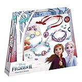 Frozen II Disney Juego de Manualidades para Hermanas con Hermosas Cuentas, Colgantes y Pegatinas de Anna y Elsa