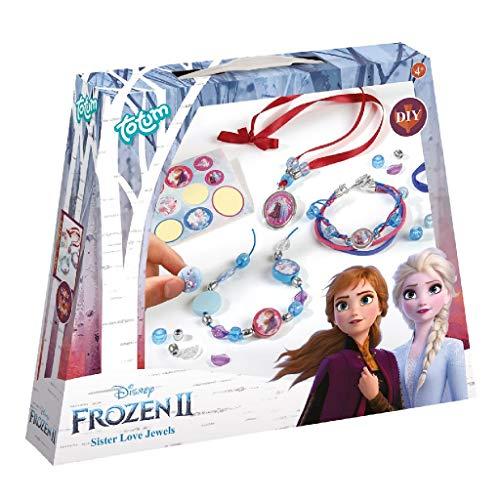 Frozen II 680661 II Schwesternschmuck Bastel-Set: Bastle Deine eigenen Prinzessinnen-Armbänder mit schönen Perlen, Anhängern und Aufklebern von Anna und Elsa