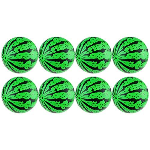 Kisangel 8 Piezas de Bolas de Playa de Sandía Bolas Inflables de Agua Que Rebotan Bolas Rellenas de Aire Juegos de Sandía para Fiesta de Piscina de Verano Natación Adultos Niños Verde
