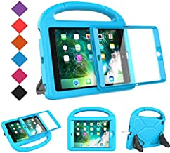 BMOUO Case for iPad Mini 1 2 3 - Built-in Screen Protector, Shockproof Lightweight Hard Cover Handle Stand Kids Case for iPad Mini 1st 2nd 3rd Generation, Blue