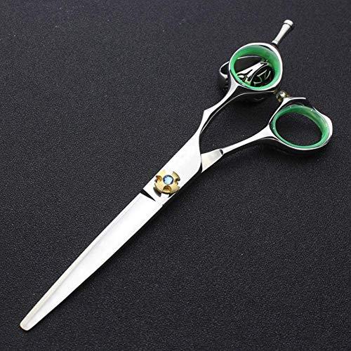 Tijeras de pelo Kit, tijeras de peluquería profesional del corte del pelo Tijeras del pelo recto Herramientas adelgazamiento tijeras de peluquero del salón, FlatCut6Inch yqaae ( Size : FlatCut6Inch )