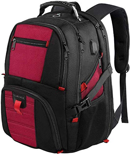 Extra Large Backpack,Computer Backpack for Laptops with USB Charging Port,Heavy Duty Business Travel
