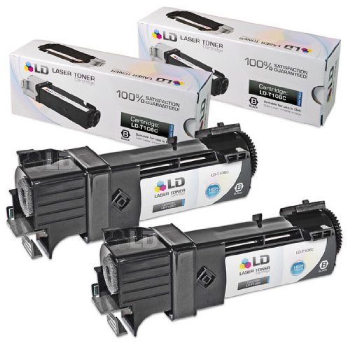 Price comparison product image LD Compatible Toner Cartridge Replacement for Dell 330-1436 T106C High Yield (Black,  2-Pack)