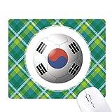 韓国の国旗のサッカー・ワールドカップ 緑の格子のピクセルゴムのマウスパッド