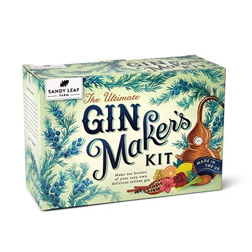 The Ultimate Gin Maker Kit de Sandy Leaf Farm para 10 botellas grandes de tu propia ginebra, con sabores que incluyen cítricos clásicos,...
