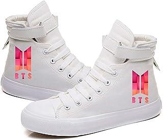 HJJ Zapatos de lona clásicos 2020 para pareja/zapatos casuales para estudiantes, Kpop BTS Fashion Hip-hop Style Print Anti...