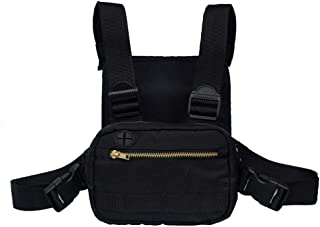 Radio Chest Harness Chest Pouch Holster Vest Rig, Universal Hands Free Walkie Talkie Chest Pocket Backpack, Two Way Radios Carry Case Accessory Holder