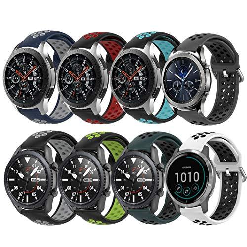 Huadea - Juego de 8 correas de repuesto para reloj Samsung Galaxy Watch SM-R800 (46 mm)/ Gear S3 Frontier / Gear S3 Classic Smart Watch
