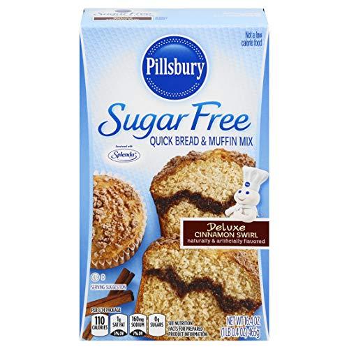 Pillsbury Sugar Free Cinnamon Swirl Flavored Quick Bread & Muffin Mix, 17.4-Ounce (Pack of 12)