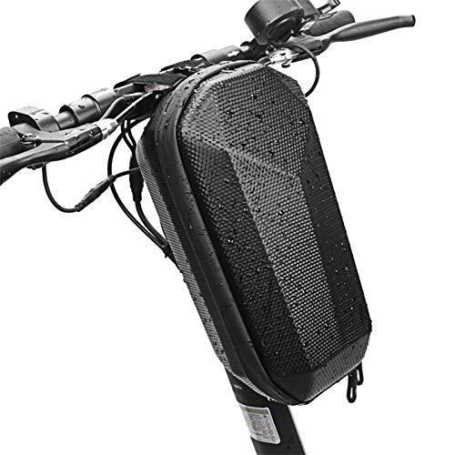 Hemao Bolsa de Scooter 3L, Tubo Delantero Impermeable del Manillar E Bolsa de Almacenamiento de Bicicletas de Scooter, Cremallera de Dos vías Anti-Shock de Gran Capacidad, Bolsa de Colgante del Motor