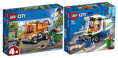 L Lego City Set: 60249 Straßenkehrmaschine + 60220 Müllabfuhr, ab 4 Jahre