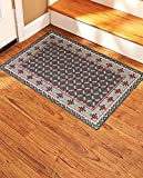 Gloria Stair Non-Slip Landing Mat - Skid Resistant Rubber Back Landing Mat - Beautiful Design Landing Mat for Bottom/Top of Stairs - Floor Mat 20' x 30' (Door mat) (1992-GRAY)