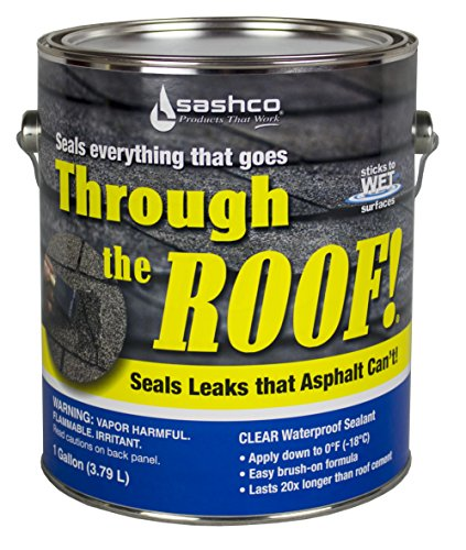 Sashco - 14004-2 Through The Roof Sealant, 1 Gallon Container, Clear (Pack of 2)