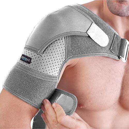 Shoulder Brace for men and women for torn Rotator Cuff Support,Tendonitis, Dislocation, Bursitis, Neoprene Shoulder Compression Sleeve Wrap by Zenkeyz (Gray, Large/XLarge)