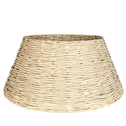 Zierkorb - Korb für Weihnachtsbaumständer oder Christbaumständer Schöner Tree Basket im Shabby Chic/Landhaus Stil (Umero L (Ø×H: ca. 59×26 cm))