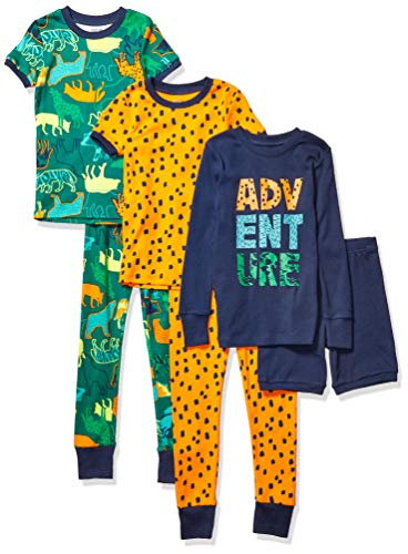 Spotted Zebra 4-Piece Snug-Fit Cotton Pajama Set Unisex-Bambini Marchio
