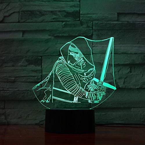 Darth Vader Schnelle Lieferung 3D Lampe Cool Present Für Kid Touch Sensor Bunte Led Nachtlicht Lampe Hologramm remote control