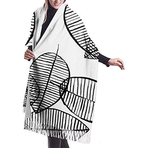 Het ontwerp laat het zwart-wit patroon dat met aquarelinkt en marker Scandinavian Shawl Wrap Winter Warm Scarf Cape gemaakt wordt.
