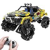 WWEI Mando a distancia para vehículos todoterreno, con 4 motores, luz, sonido, 1030 piezas, compatible con Lego 9398 Offroader