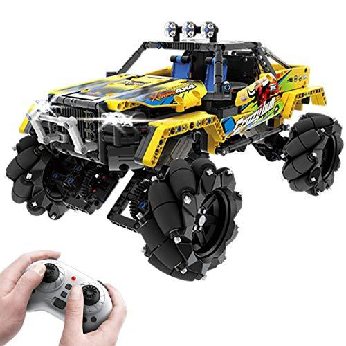 VIPO Technik Bausteine Geländewagen Modell Ferngesteuert Auto mit Licht und Ton, 1030 Teile Off-Roader Konstruktionsspielzeug Kompatibel mit Lego Technic