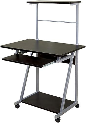 Tableau LHA Bureau d'ordinateur en Bois, Grand Bureau, Bureau d'ordinateur, Bureau d'étude (Couleur   Noir)