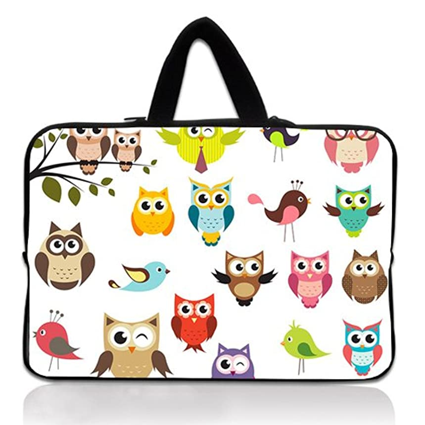 Wondertify 15-15.6 Inch Waterproof Neoprene Laptop Handbag Sleeve Briefcase - Owl Protective Bag Carrying Case for MacBook/ASUS/HP/Toshiba/Dell/Sony/Ultrabook/Men/Women