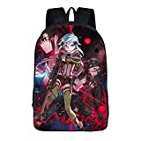 Unisex Sword Art Online Cosplay Anime Mochila Escolar Estudiantes Mochila para Portátil Backpack Bolsa Casual Bandolera